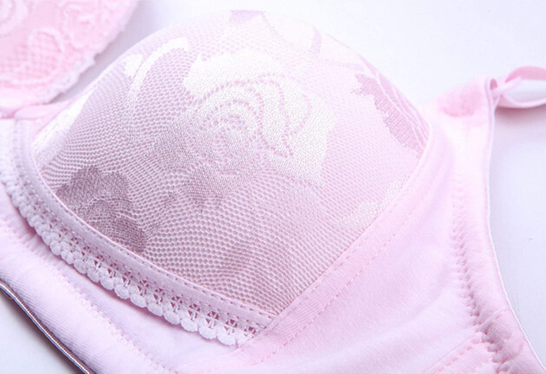 Epinki Women Nursing Bra Cotton Wireless Rose Flower Maternity Bra for Breastfeeding