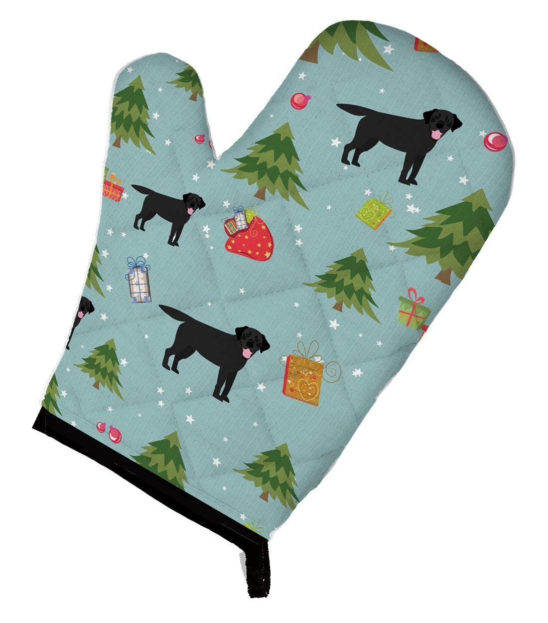 Caroline's Treasures BB4964OVMT Christmas Black Labrador Retriever Oven Mitt, Large, multicolor