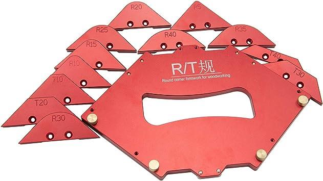Woodworking Trimming Radius Jig Router Templates Aluminum Alloy Radius Corners