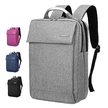 maletín para ordenador portátil Mochila para computadora portátil, mochila de negocios delgada cabe bajo 14
