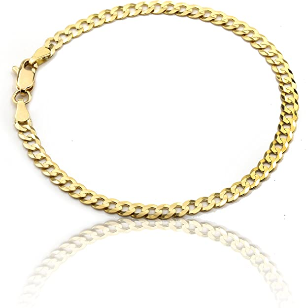 ANKLET ANKLE BRACELET 2.4 mm CURB CHAIN  { STAINLESS STEEL} FREE GIFT BOX