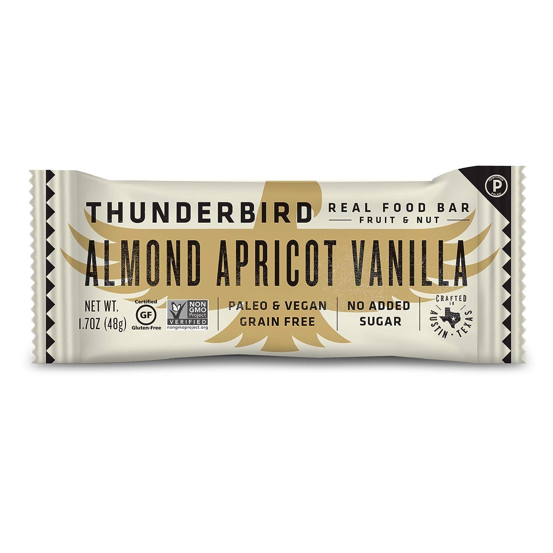 Thunderbird Paleo and Vegan Snacks - Real Food Energy Bars - Fruit & Nut Nutrition Bars - No Added Sugar, Grain and Gluten Free, Non-GMO, 15 Pack (Almond Apricot Vanilla)
