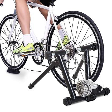 HOMCOM Rodillo Entrenamiento para Bicicleta Plegable Entrenador para Bicicleta en Interior Carga 100kg