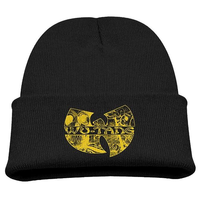 3c8af7ec2ff89 TINGHAO Wu Tang Clan Hip Hop Style Logo Winter Knit Cap Beanie Cap For Kids  Black