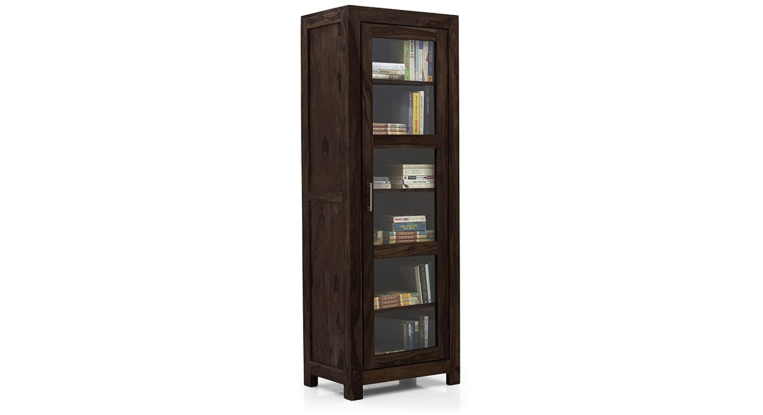 Urban Ladder Murano Single Door Solid Wood Display Cabinet Teak