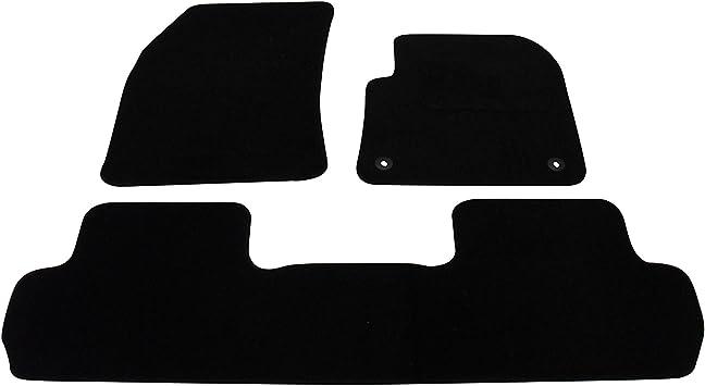 PEUGEOT 3008 2017 ONWARDS TAILORED CAR FLOOR MATS BLACK CARPET WITH BLACK TRIM