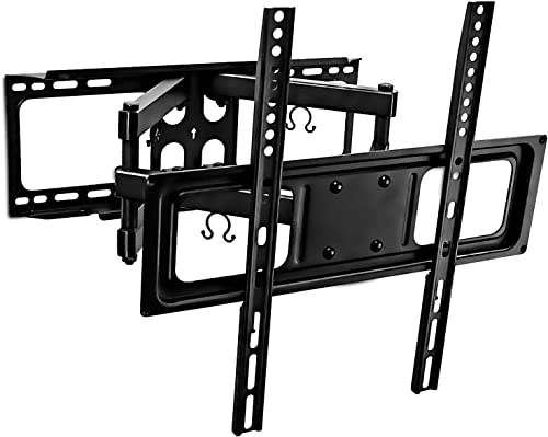 Mount-It Full Motion TV Wall Mount with Tilt and Swivel, Fits 32 37 40 42 47 50 Inch Flat Screen TVs with VESA 200×200, 400×400, Safe Articulating Dual Arm Mount 88 Lbs Capacity MI-3990