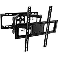 Mount-It! Full Motion TV Wall Mount With Tilt and Swivel, Fits 32 37 40 42 47 50 Inch Flat Screen TVs with VESA 200x200…