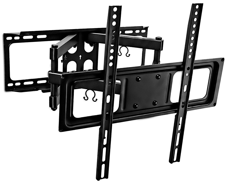 Mount-It! Tilt Swivel TV Wall Mount 32- 55 LCD LED Plasma TV Flat Screen with VESA 200x200, 400x400, Full Motion Articulating Dual Arm Mount 88 Lbs Capacity (MI-3990) MI-3990B