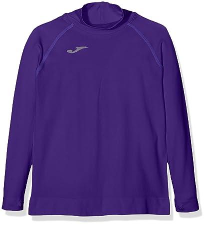 Joma Brama Classic - Camiseta térmica para niños, color morado, talla 4-6