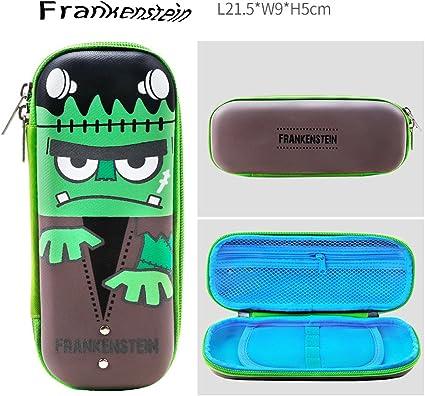 HRTC Luminous Fantasy Party Pen Box,estuche de lápices,School Stationery Students Double Zipper,Estuche de bolsa para almacenamiento,Nuevo semestre regalo de escuela: cuatro estilos (Green-Frankenstein): Amazon.es: Oficina y papelería