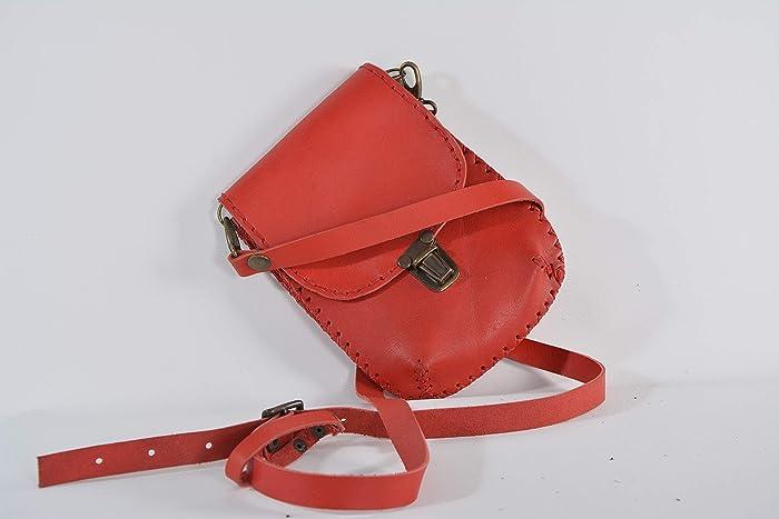 336f08aa49de Amazon.com: Handmade leather unisex small wallet bag crossbody bag small bag:  Handmade