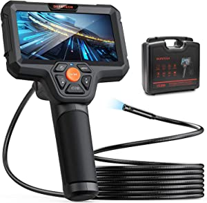 DEPSTECH 1080P Dual-Lens Endoscope, Borescope with 5