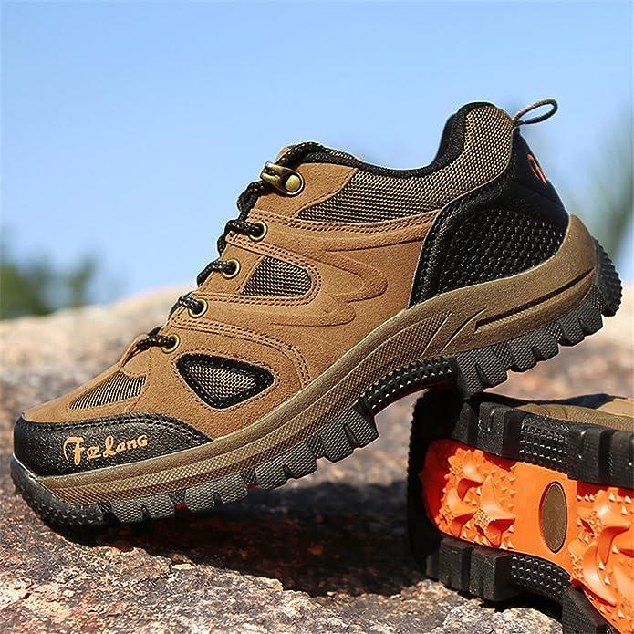 Unisex - Erwachsene Wanderschuhe Trekking Schuhe Wasserdicht Atmungsaktiv Veloursleder Bequeme Outdoor Hiking Sneaker t1G8weD