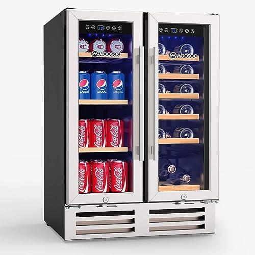 MOOSOO-24-Inch-Dual-Zone-Wine-Refrigerator
