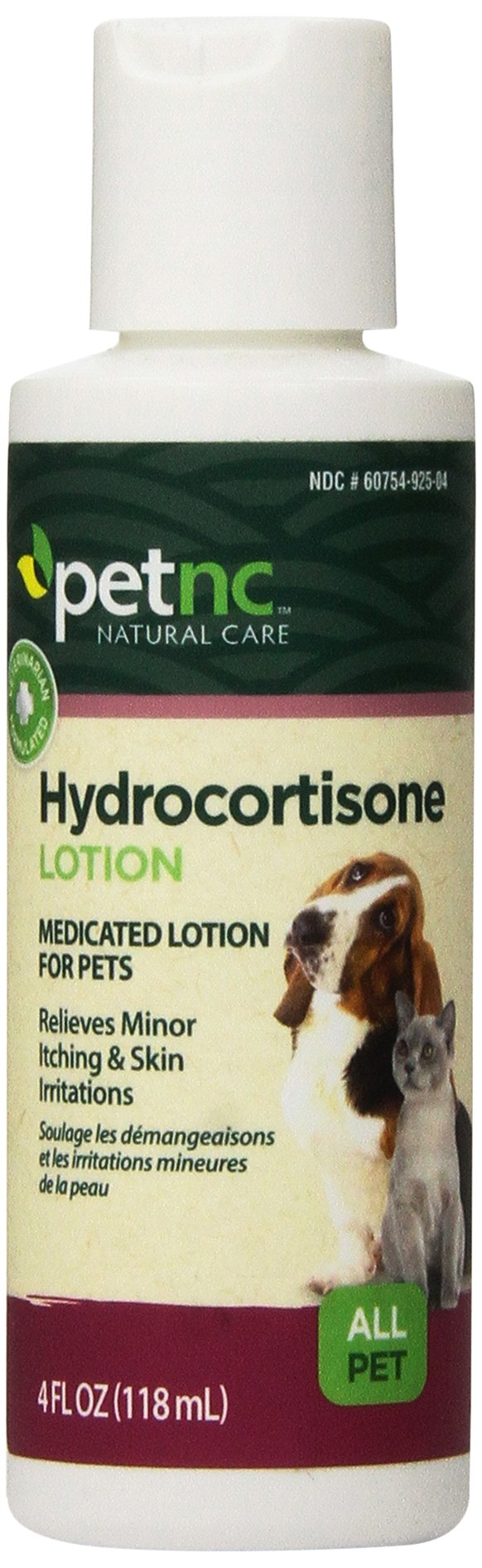 PetNC Natural Care Hydrocortisone Lotion for All Pets, 4-Ounce