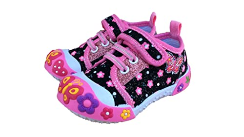 e59f5726a Chulis Infant Baby Girl Pink Purple Black White Shoes Size 2 First Walkers  6 to 12