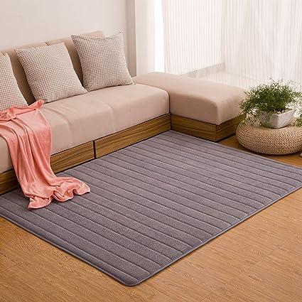 amazon com maxyoyo memory foam rug striped design velvet rug for rh amazon com