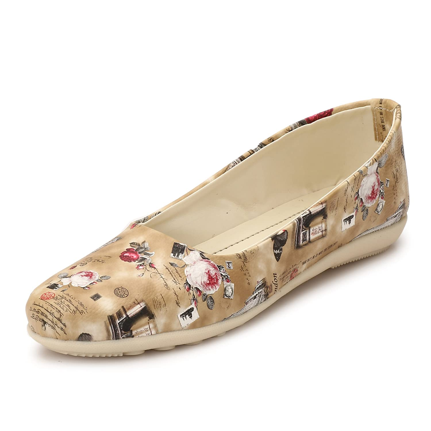 62d67d665c65 AlexaStar Women Flat Belly Shoes Comfortable Slip On Pointed Toe Girls  Ballet Flats Bellies   Ballerina  Buy Online at Low Prices in India -  Amazon.in