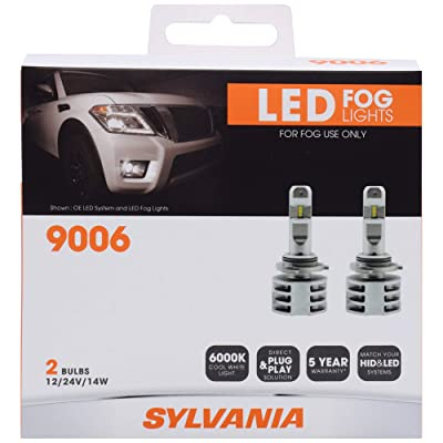 SYLVANIA - 9006 LED Fog Light - Premium Quality Plug and Play LED Fog Lights, Bright White Light Output, Matches HID & LED Headlight Lighting Systems, Added Style & Performance (Contains 2 Bulbs): Home Improvement