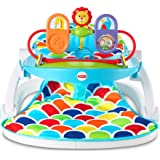 Fisher-Price Deluxe Sit-Me-Up Floor Seat with Toy Tray Happy Hills