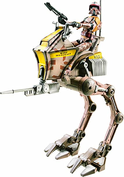 Amazon.com: Star Wars Figure and Vehicle Clone Scout With AT ...
