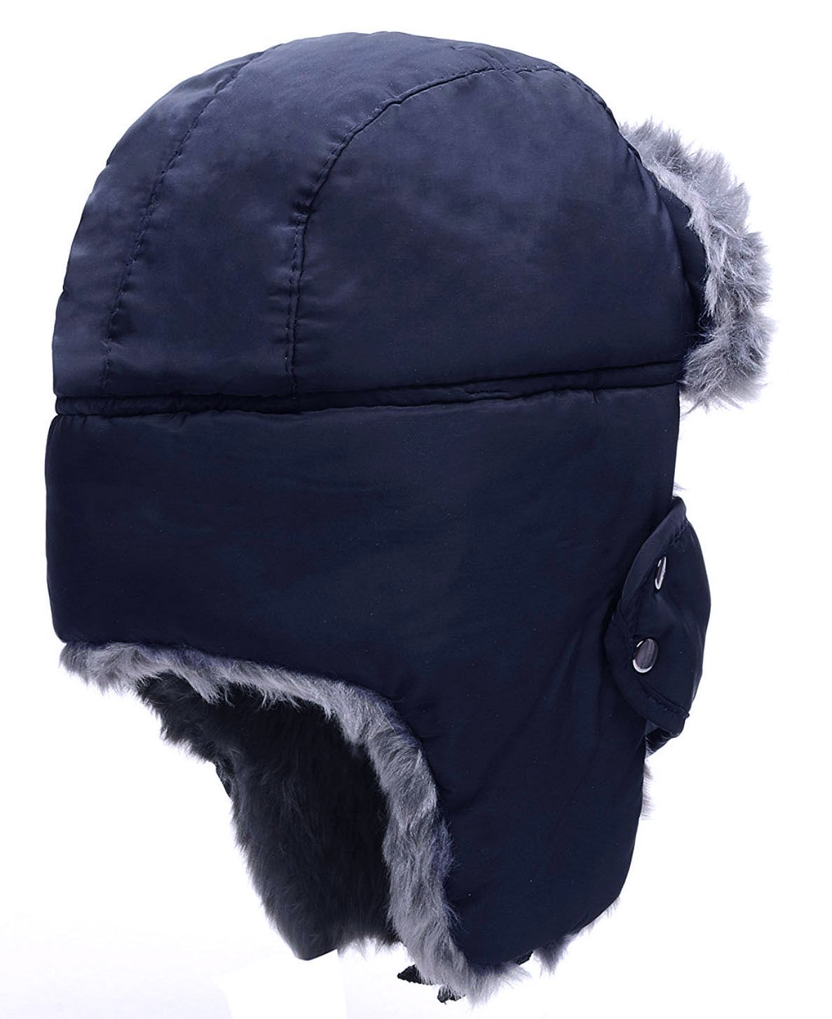 HindaWi Winter Hat Windproof Mask Ushanka Trapper Hat for Men and Women Navy