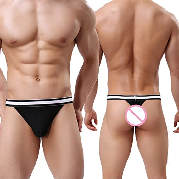 Sonjer Men Briefs Underwear New Modal 6Color Sexy Ropa Interior Jockstrap Underwear Men Male Underpant at Amazon Mens Clothing store: