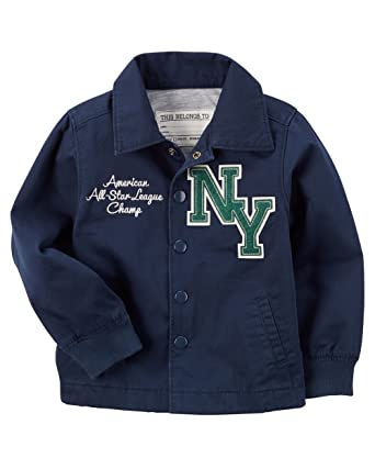 Image Unavailable. Image not available for. Color  Carter s Little Boys   Jersey-Lined Baseball Jacket 2f14e9c27