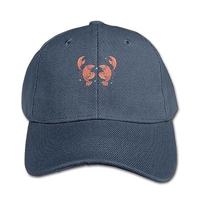 Elephant AN Cute Lobster Pattern Pure Color Baseball Cap Cotton Adjustable Kid Boys Girls Hat