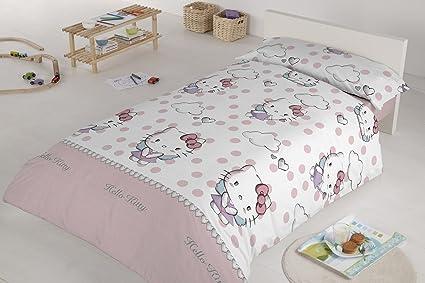 Hello Kitty 35389   Dúo funda nórdica para cama de 90 cm, diseño