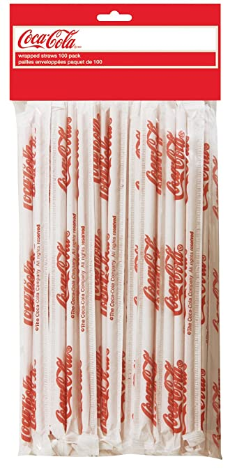 Curtains Ideas coca cola shower curtain : Amazon.com: TableCraft Coca-Cola CC327 Wrapped Plastic Drinking ...