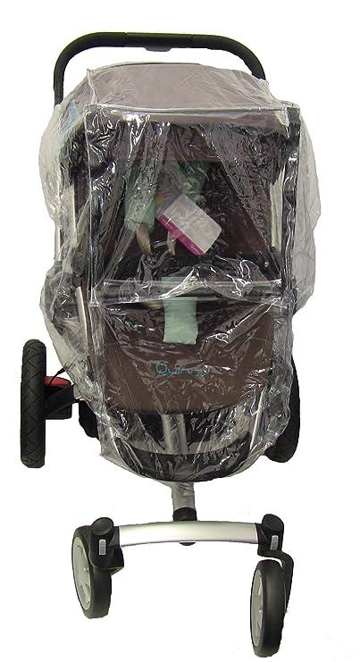 Koodee – Protector para lluvia para cochecito Quinny Buzz carrito de bebé para recién nacido (transparente)