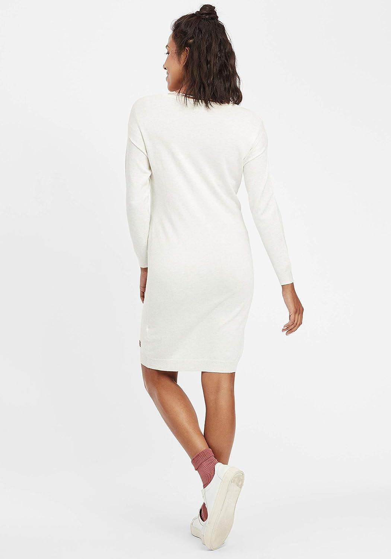 OXMO Ella Damen Strickkleid Feinstrickkleid Kleid mit Rundhals-Ausschnitt