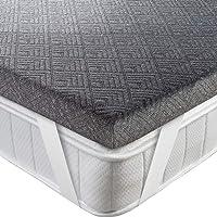 BedStory Topper Viscoelastico 135x190x5cm Topper Colchón con Carbón de Bambú Antiácaros y Transpirable Sobrecolchón…