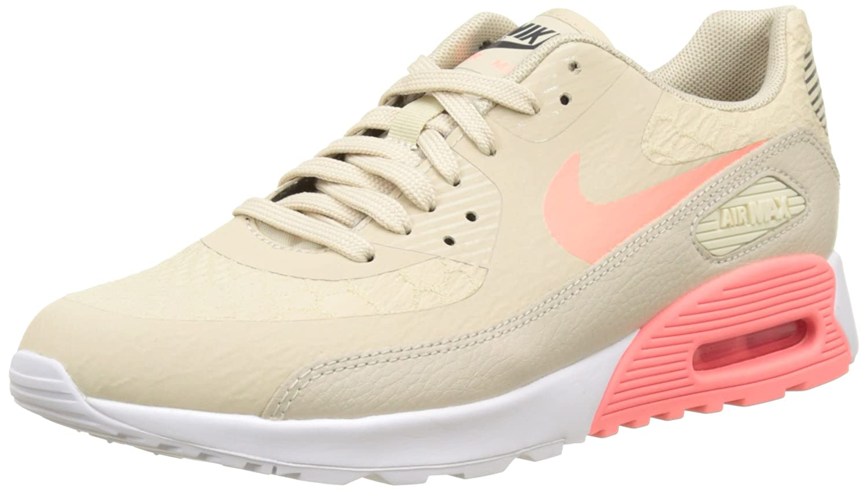 Nike Damen Wmns Air Max 90 Ultra 2.0 Sneakers Beige (Beige Oatmeal/Lava Glow-Weiß-dark Grau)