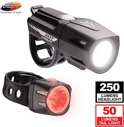 Cygolite DICE 50 Lumens LED Bike Rear Tail Light USB Rechargeable Night or Day
