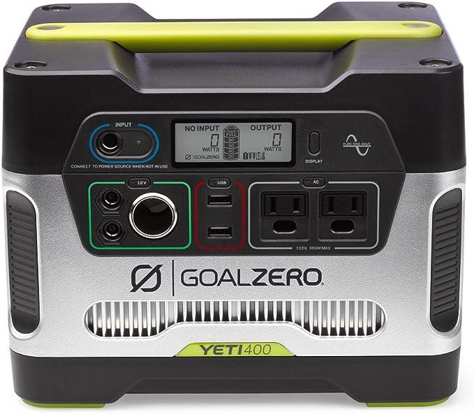 Goal Zero Yeti 400 Portable Power Station, 400Wh Battery Powered Generator