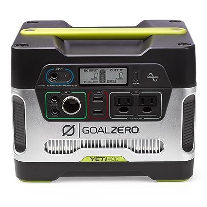 Goal Zero Yeti 400 Portable Power Station, 400Wh Battery Powered Generator  Onan Generator Wiring Diagram Battery on