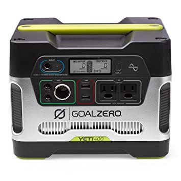 Goal Zero Yeti 400 Portable Power Station, 400 Wh Battery Powered Generator Alternative With 12 V, Ac And Usb Outputs by Goal Zero