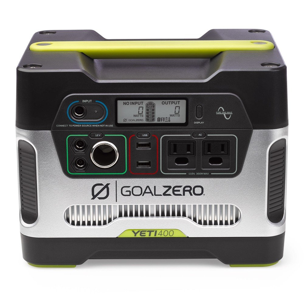 Goal Zero Yeti 400 Portable Power Station, 400Wh Battery Powered Generator Alternative With 12V, AC And