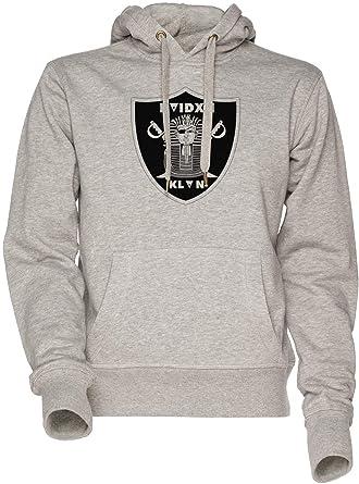 Raider Klan Unisexo Hombre Mujer Sudadera con Capucha Gris Mens Womens Hoodie Sweatshirt Grey