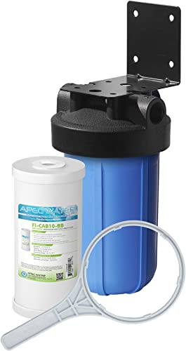 APEC Water Systems CB1-CAB10-BB Whole House Carbon Water Filter with 10 Big Blue Home Filtration System, White