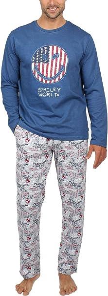 Smiley Pijama Manga Larga USA para Hombre
