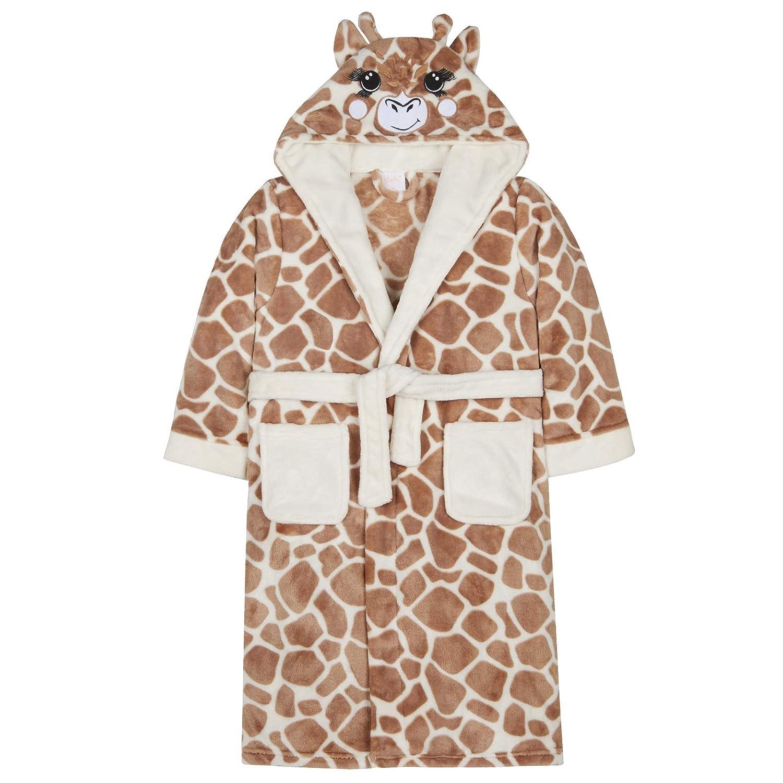 Lora Dora Girls 3D Giraffe Hooded Dressing Gown Shoe Directory