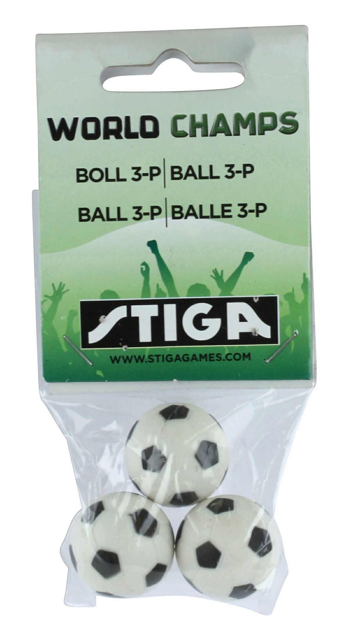 Stiga World Champs Soccer Game - Replacement Balls - 3 pack