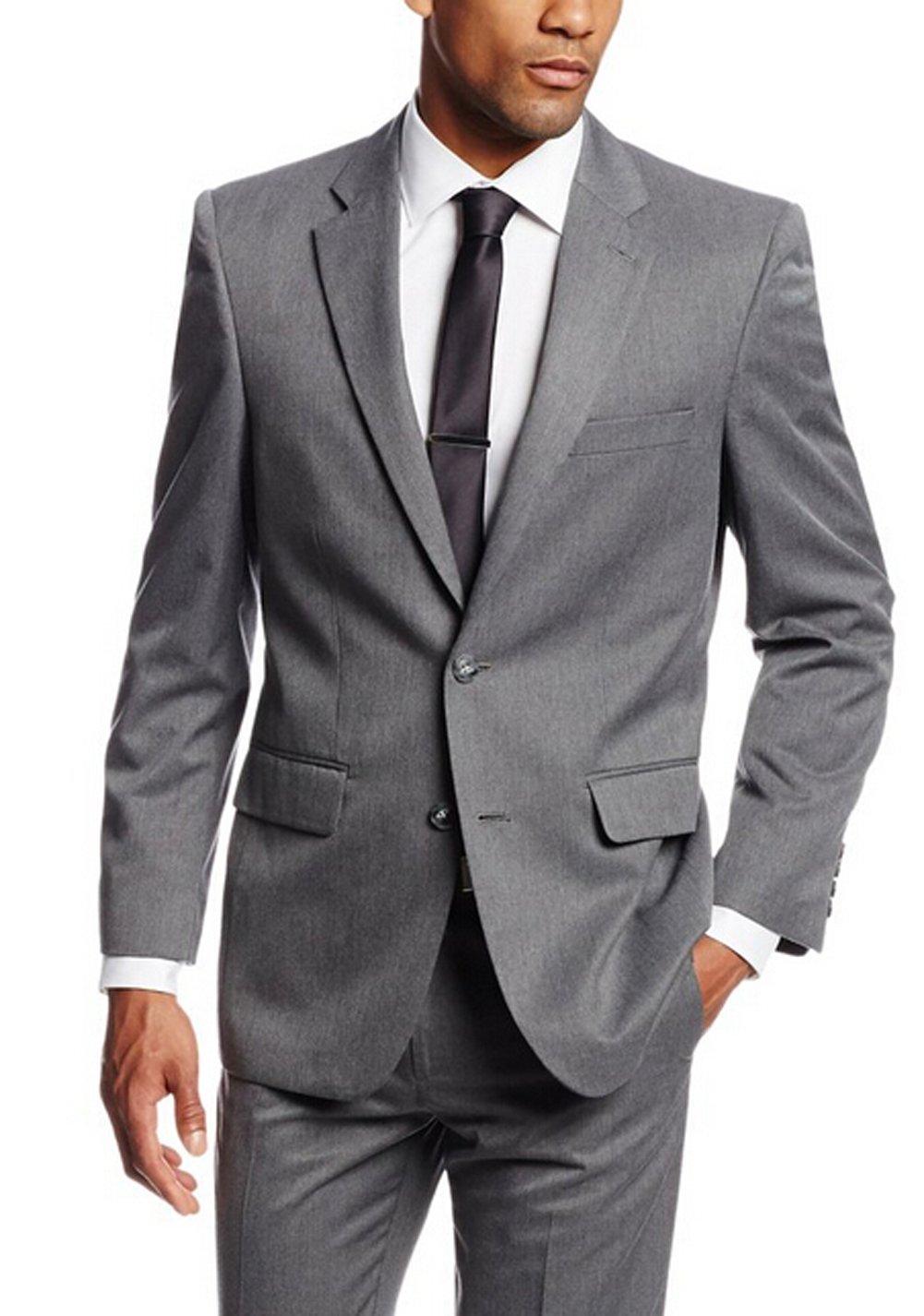 Love Dress Men's Gabardine Tailored-Fit Two-Button Side Vent Suit Jacke Pant 5XL