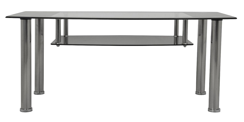 AVF T12-A Black Glass Chrome Coffee Table