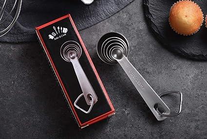 4 pi/èces//ensemble de cuisine domestique Cuill/ères /à mesurer en acier inoxydable