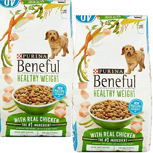 Purina Beneful Healthy Weight with Real Chicken Healthy Weight with Real Chicken, 40 lb. Bag - 2 Pack